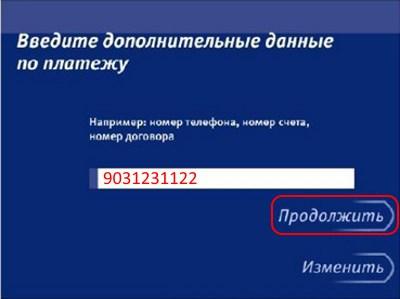 данные по платежу ВТБ 24